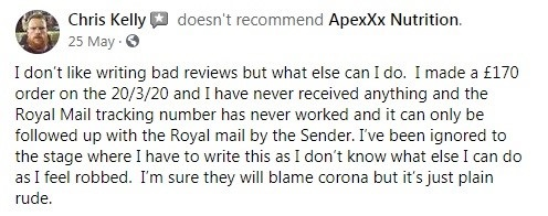 Apexxx CBD Customer Review 4