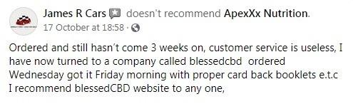 Apexxx CBD Customer Review