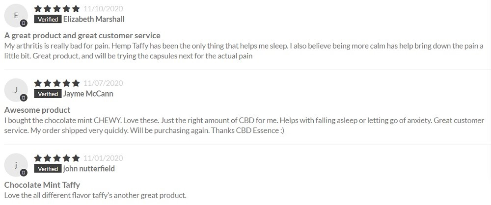 CBD Essence CBD Candy Customer Reviews