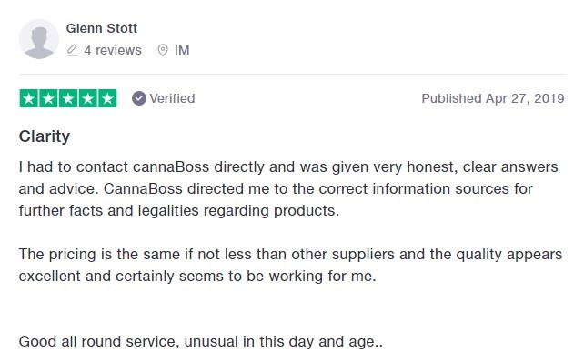 CannaBoss CBD Customer Review
