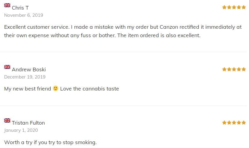 Canzon CBD Vape Customer Reviews