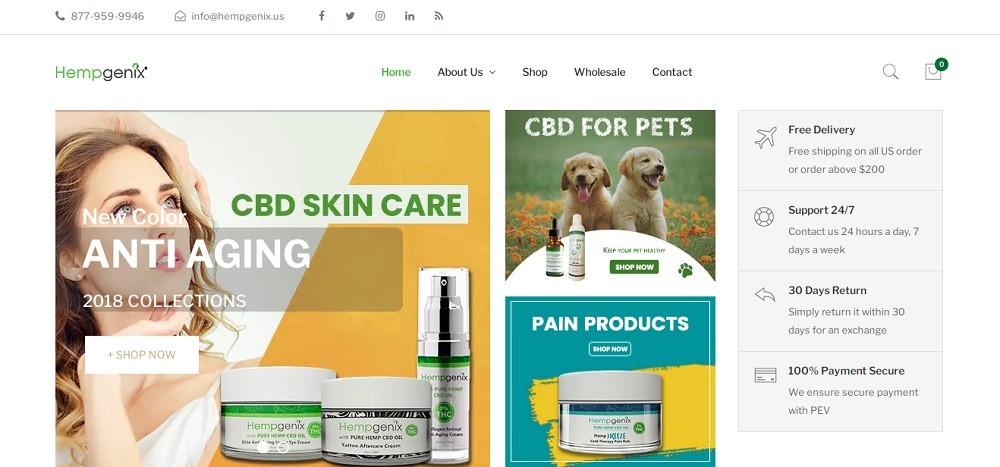 Hempgenix CBD Website