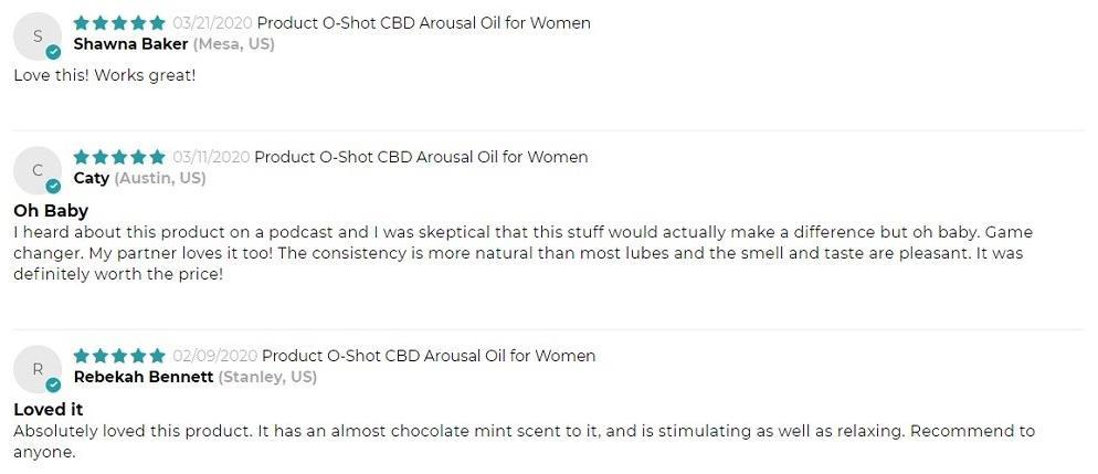 Omax Health CBD Arousal Oil for Women Customer Reviews