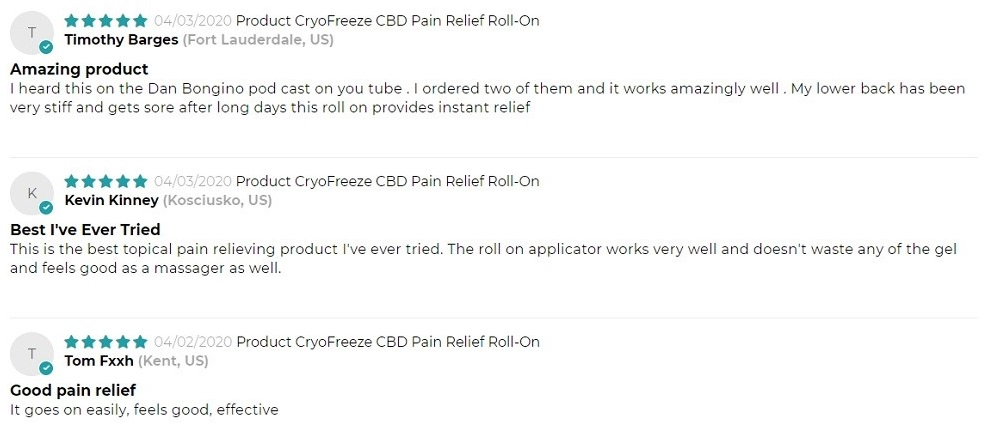 Omax Health CBD Topicals Customer Reviews