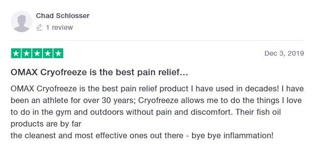 Omax Health Customer Review 4