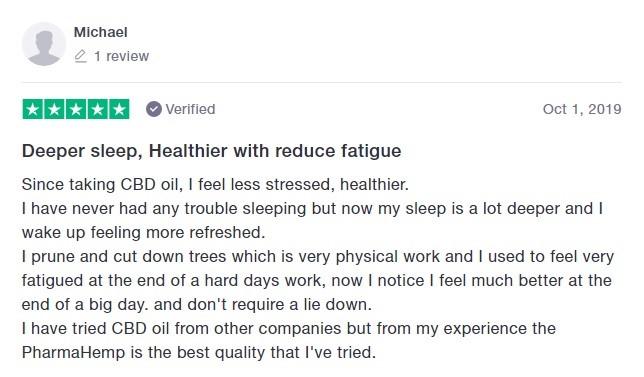 PharmaHemp Customer Review 3