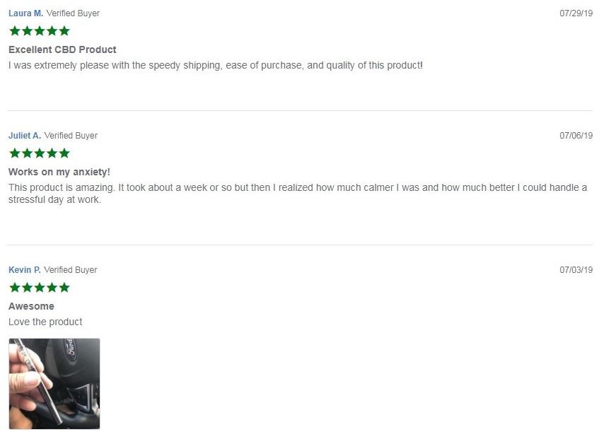 Pure CBD Vapors CBD 30% Vape Starter Kits Customer Reviews