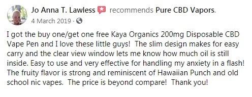 Pure CBD Vapors Customer Review 3