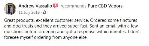 Pure CBD Vapors Customer Review 5