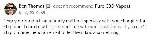 Pure CBD Vapors Customer Review