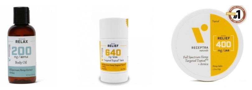 Receptra Naturals CBD Topicals