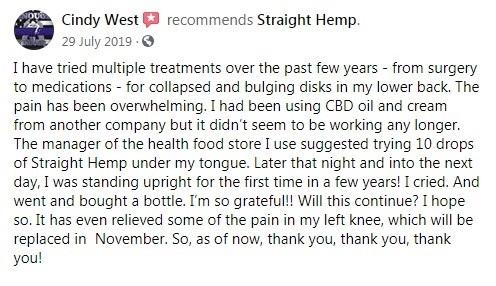Straight Hemp Customer Review 3