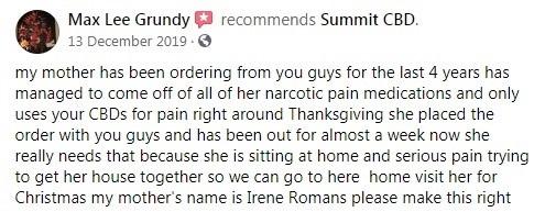 Summit CBD Customer Review 2