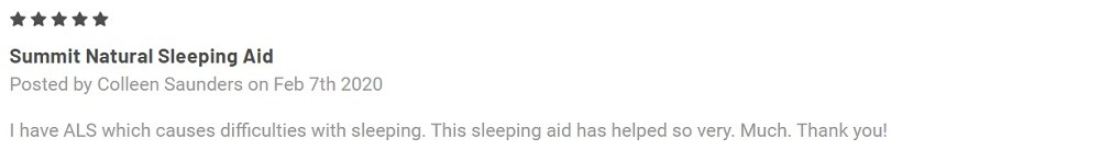 Summit CBD Sleep Aid Tablets With Melatonin Customer Reviews