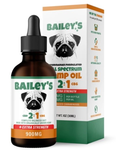 Baileys CBD 2 to 1 CBD and CBG Oil For Dogs