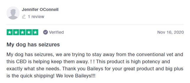 Baileys CBD Customer Review 3