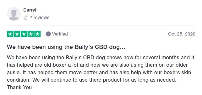 Baileys CBD Customer Review 5