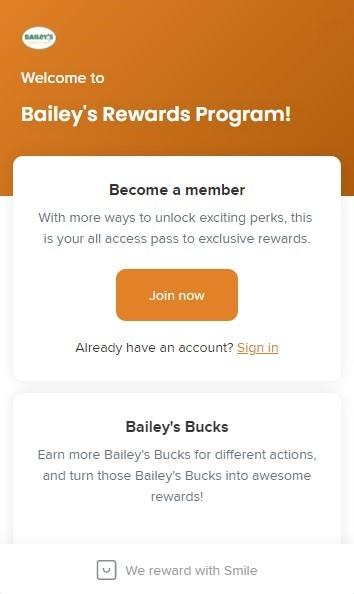 Baileys CBD Rewards Program