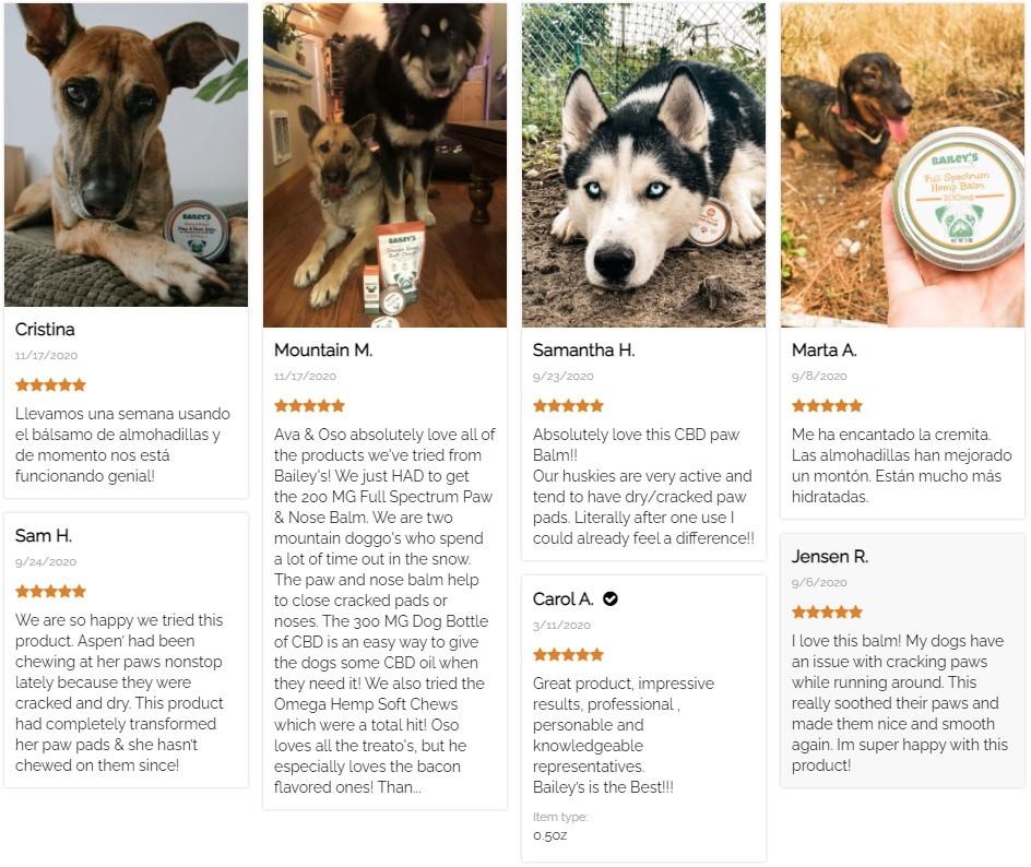 Baileys CBD Topicals Customer Reviews