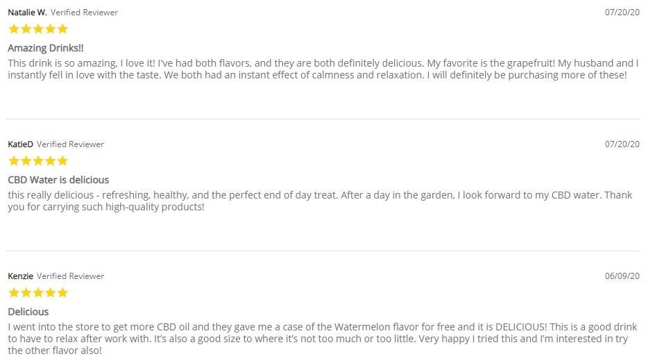 CBD American Shaman CBD Watermelon Sparkling CBD Water Customer Reviews