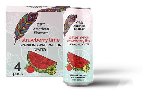 CBD American Shaman CBD Watermelon Sparkling CBD Water