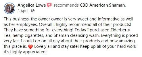 CBD American Shaman Customer Review 3