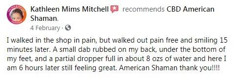 CBD American Shaman Customer Review 5