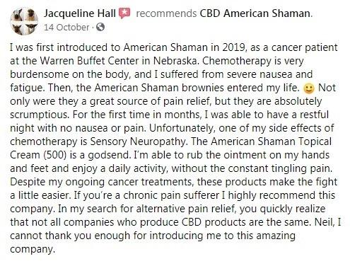 CBD American Shaman Customer Review 6