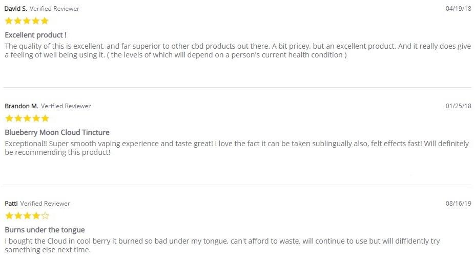 CBD American Shaman VG Cloud Tincture Customer Reviews