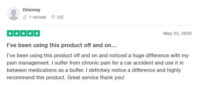 Cali Born Dreams CBD Customer Review 3