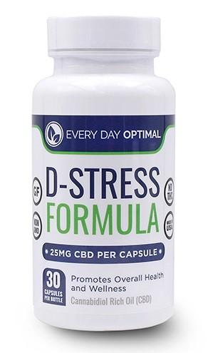 Every Day Optimal CBD D Stress Formula Capsules