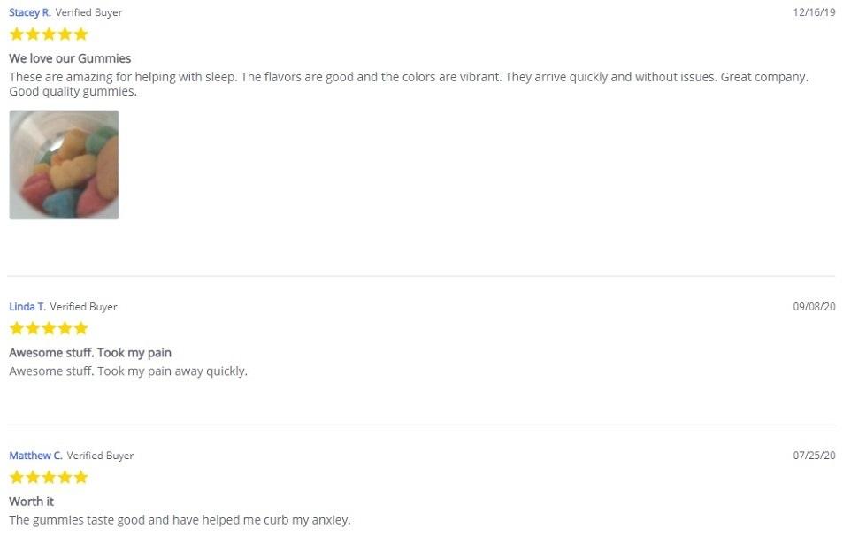 Every Day Optimal CBD Gummies Customer Reviews
