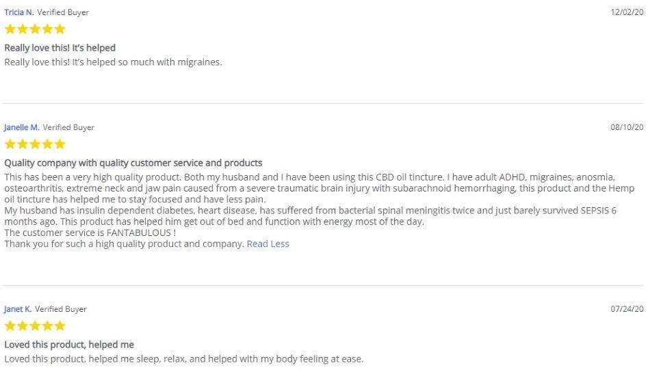 Every Day Optimal CBD Oil Customer Reviews