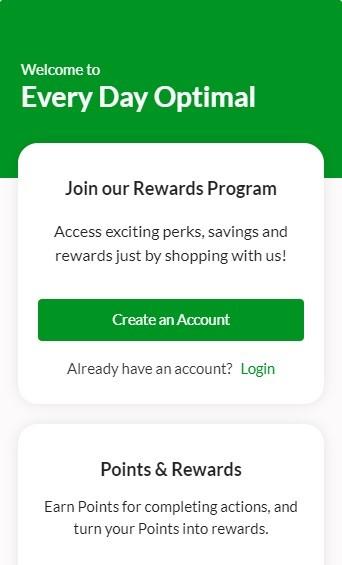 Every Day Optimal CBD Rewards Program