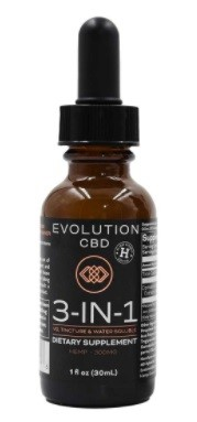 Evolution CBD 3 in 1 CBD Oil