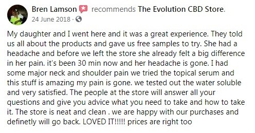 Evolution CBD Customer Review 5