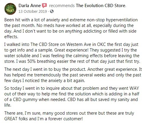 Evolution CBD Customer Review