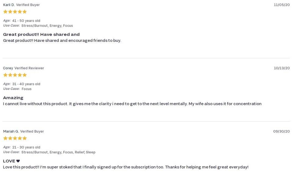 FOCL CBD Day Capsules Customer Reviews