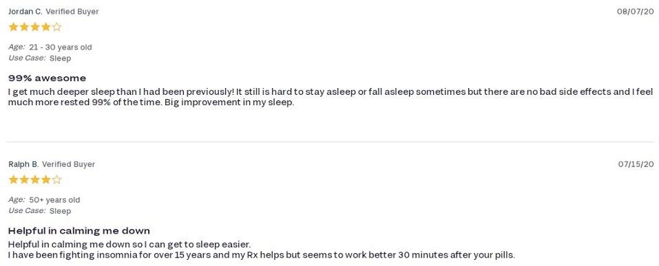 FOCL CBD Night Capsules Customer Reviews