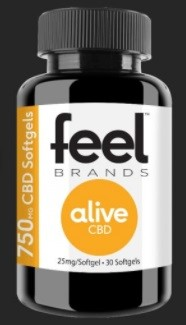Feel Brands CBD Feel Alive CBD Gelcaps