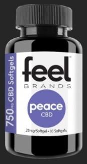 Feel Brands CBD Feel Peace CBD Gelcaps