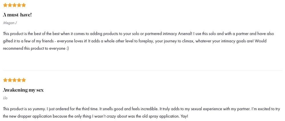 Foria CBD Awaken Arousal Oil with CBD Customer Reviews