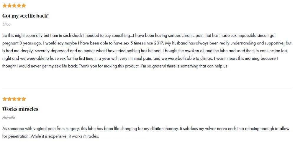 Foria CBD Topicals Customer Reviews
