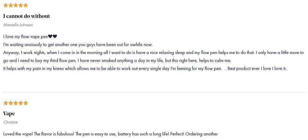 Foria CBD Vape Customer Reviews