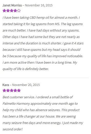 Harmony CBD Hemp Oils Customer Reviews