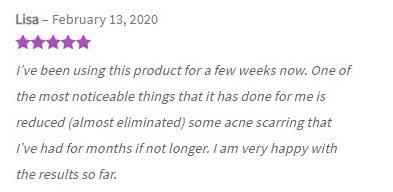 Harmony CBD Skincare Customer Review