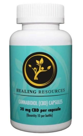 Healing Resources CBD THC Free CBD Capsules