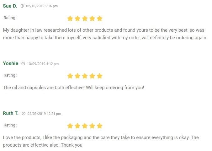 Hempura CBD Capsules Customer Reviews