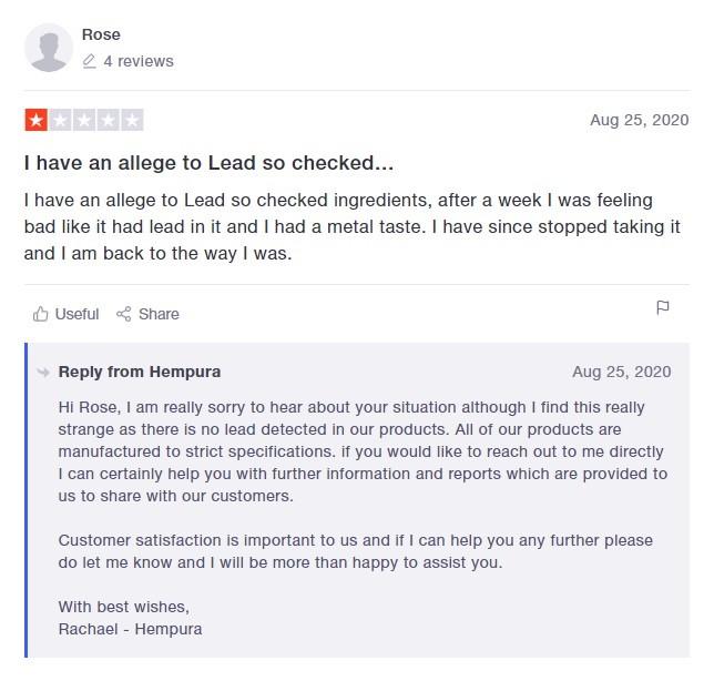 Hempura CBD Customer Review