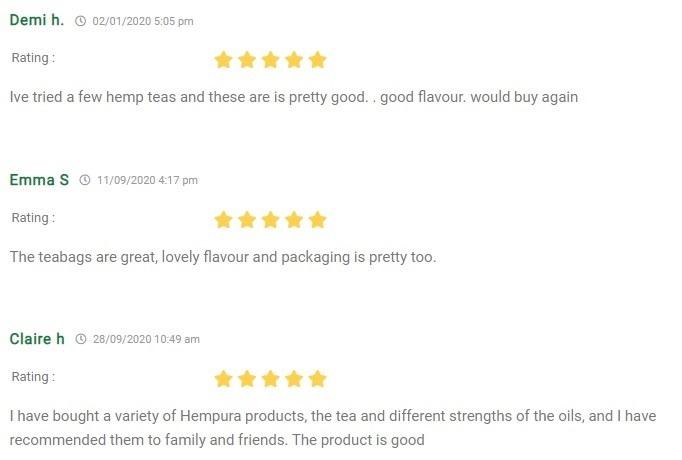 Hempura CBD Hemp Tea Customer Reviews